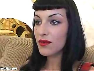 awesome goth girl copulates a punk rockers giant
