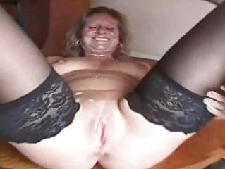 chubby grownup amp inside pantyhose is a sperm ho