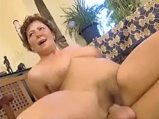 overweight lady with unshaved pussy