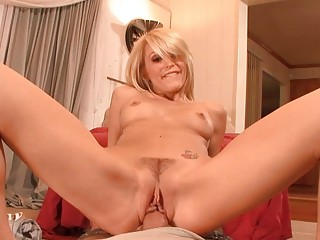 wonderful blond woman acquires roughly nailed