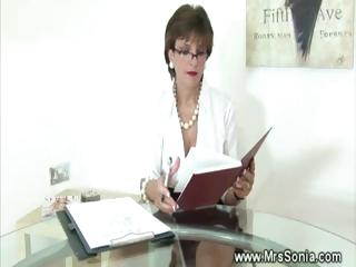 cheating woman inside small cloth with pantyhose