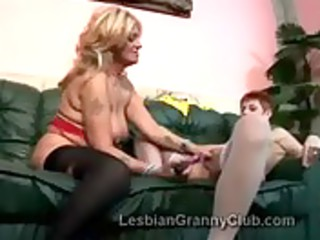 cougar blonde in nylons pumps rufous old with sex
