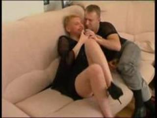 cougar russian super auntie with guy