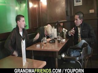 two boys gang bang totally naughty elderly