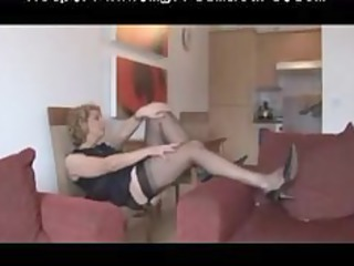 old fully fashioned nylons and panties expose
