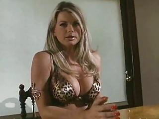 lady inside leopard print lingerie obtains a