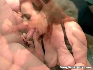 redhead and blonde cougar bitches obtain gang