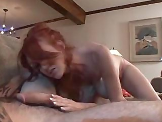 horny redhaired cougar woman licks and gets
