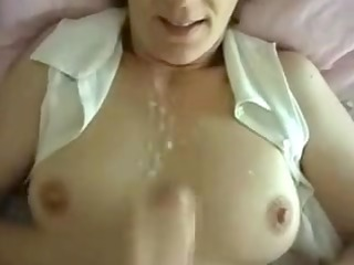 naughty maiden private cum on tits