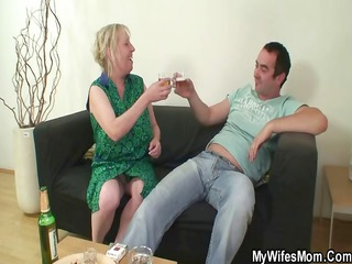 libido hungry milf jumps on her son on law