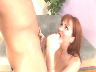 dirty ginger milf trinity obtains two libidos and
