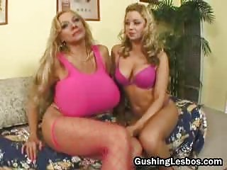 grownup lesbo bitch takes gangbanged with