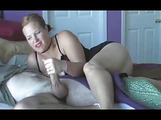 mature babe wake up handjob