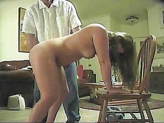 hubby spanks housewife
