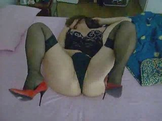 my lady pushing dildo