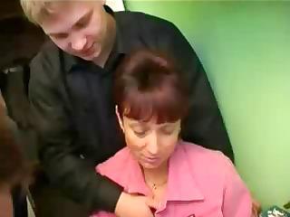 russian woman gangbang 3 penises
