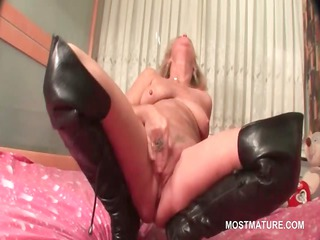 older  inside leather shoes doing herself in