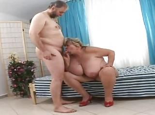 large grandmother licking fortunate elderly dick