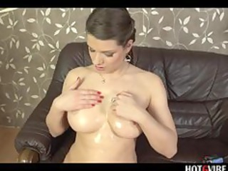 squeezing euro adult movie star covered inside oil