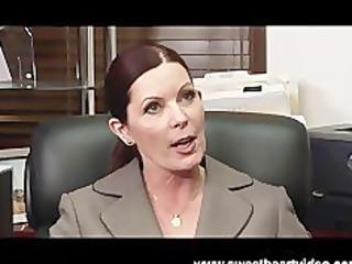 lesbian boss obtains advantage of her employee