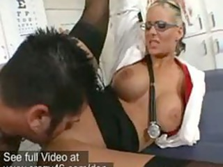 medic gang-bangs her patients large uneasy cock